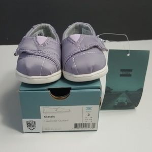 NEW!Toms Girls Lavender Quilted Alpargata Shoe